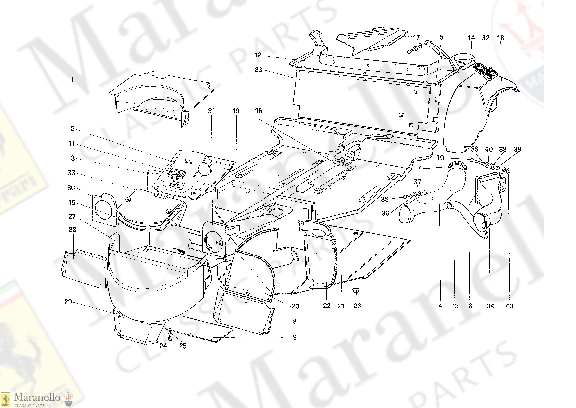102 - Body Shell - Inner Elements