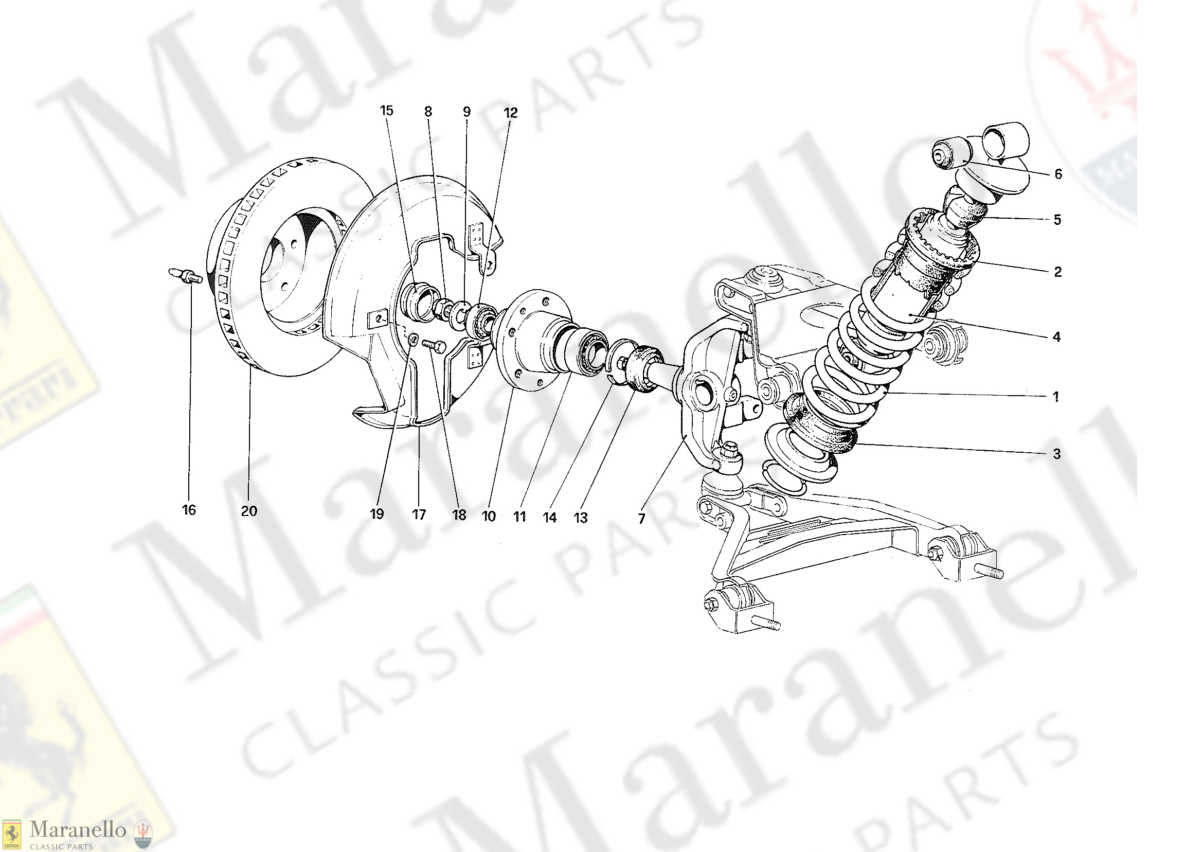 034 - Front Suspension - Shock Absorber and Brake Disc
