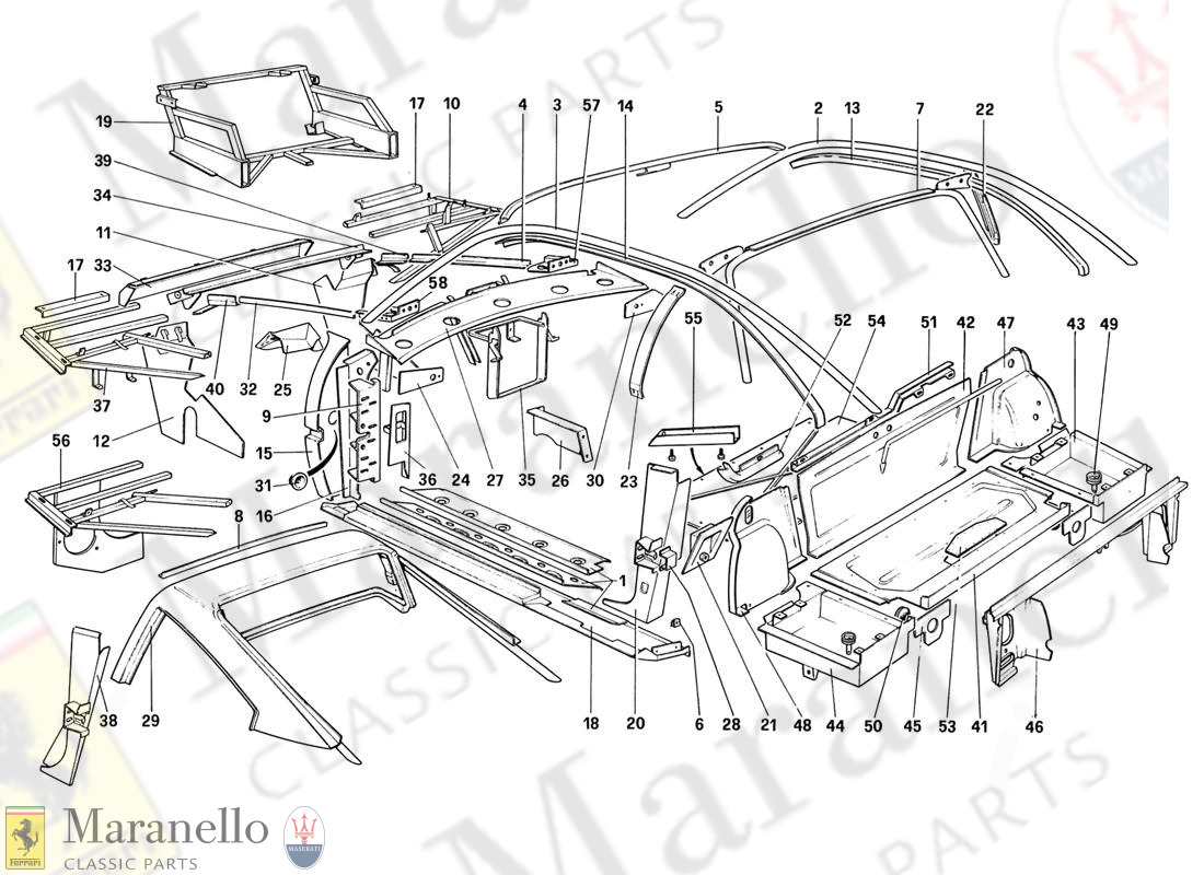 106 - Body Shell - Inner Elements (For Aus And Ch87 And Ch88)