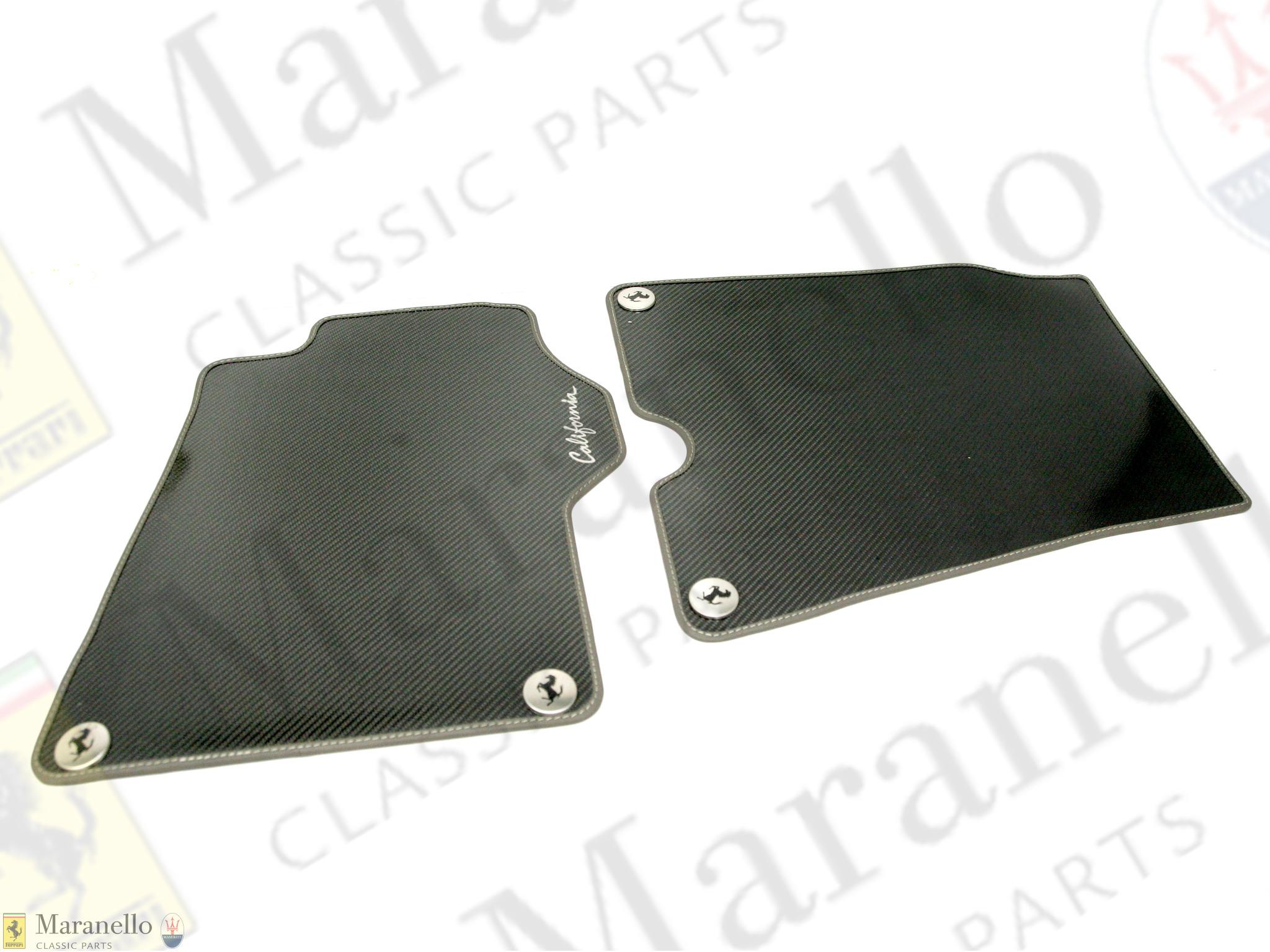 Ferrari Part 70001985 Rhd California Carbon Floor Mats Kit Maranello Classic Parts