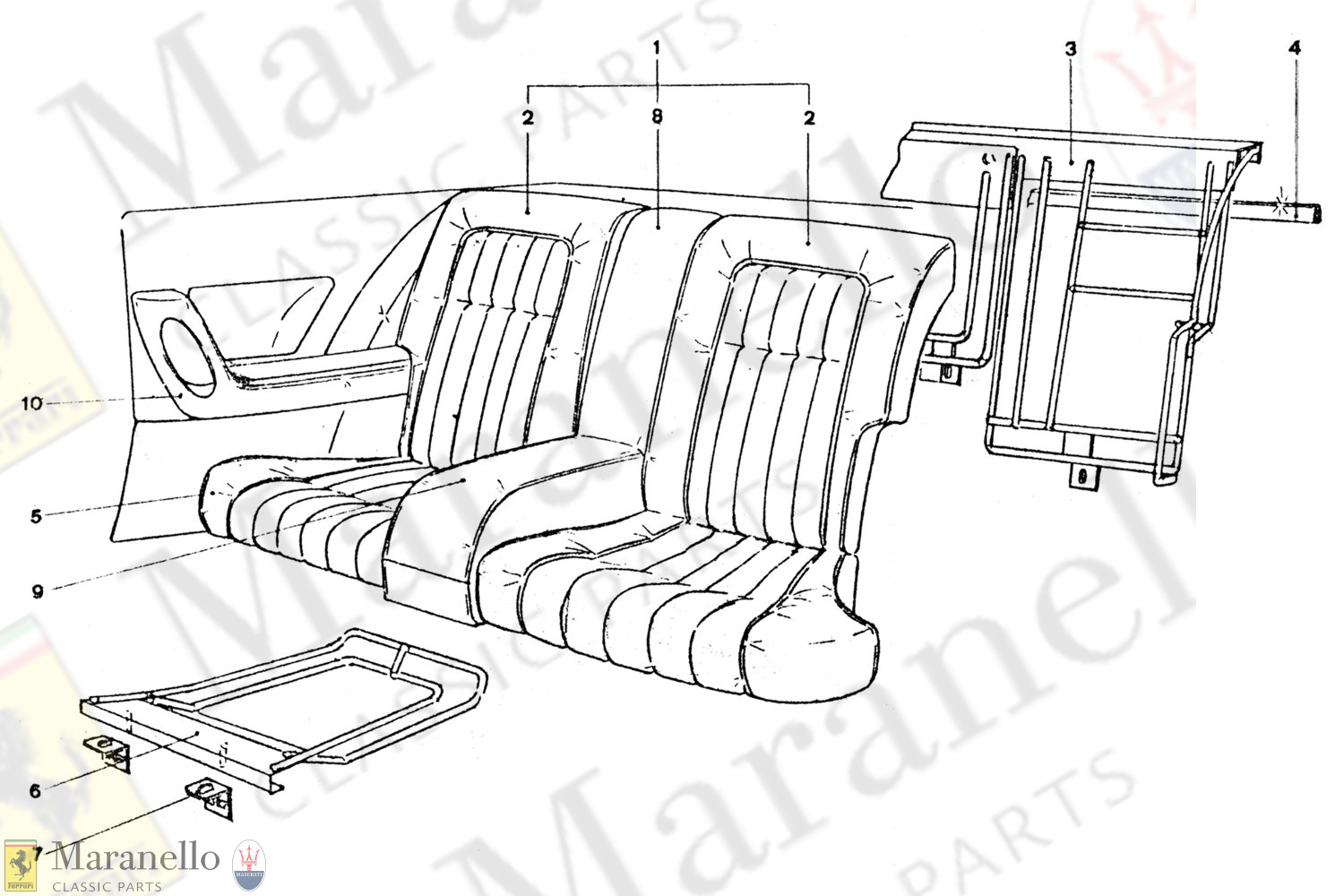 220 - Rear Seat Components