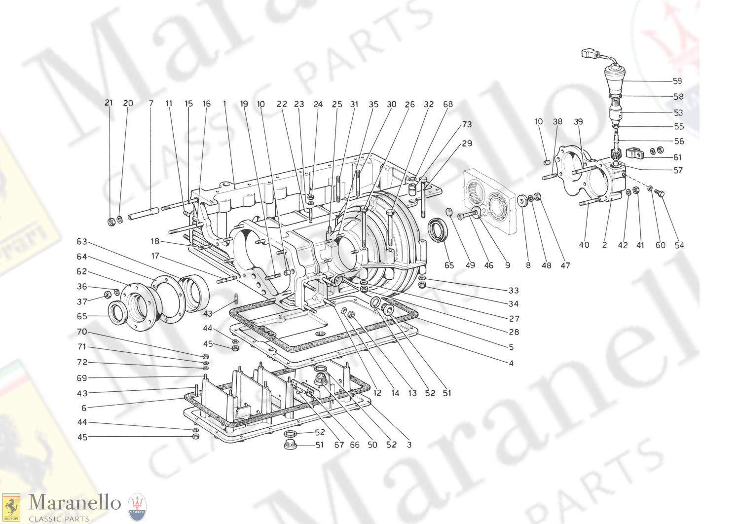 021 - Gearbox - Differential Housing And Oil Sump
