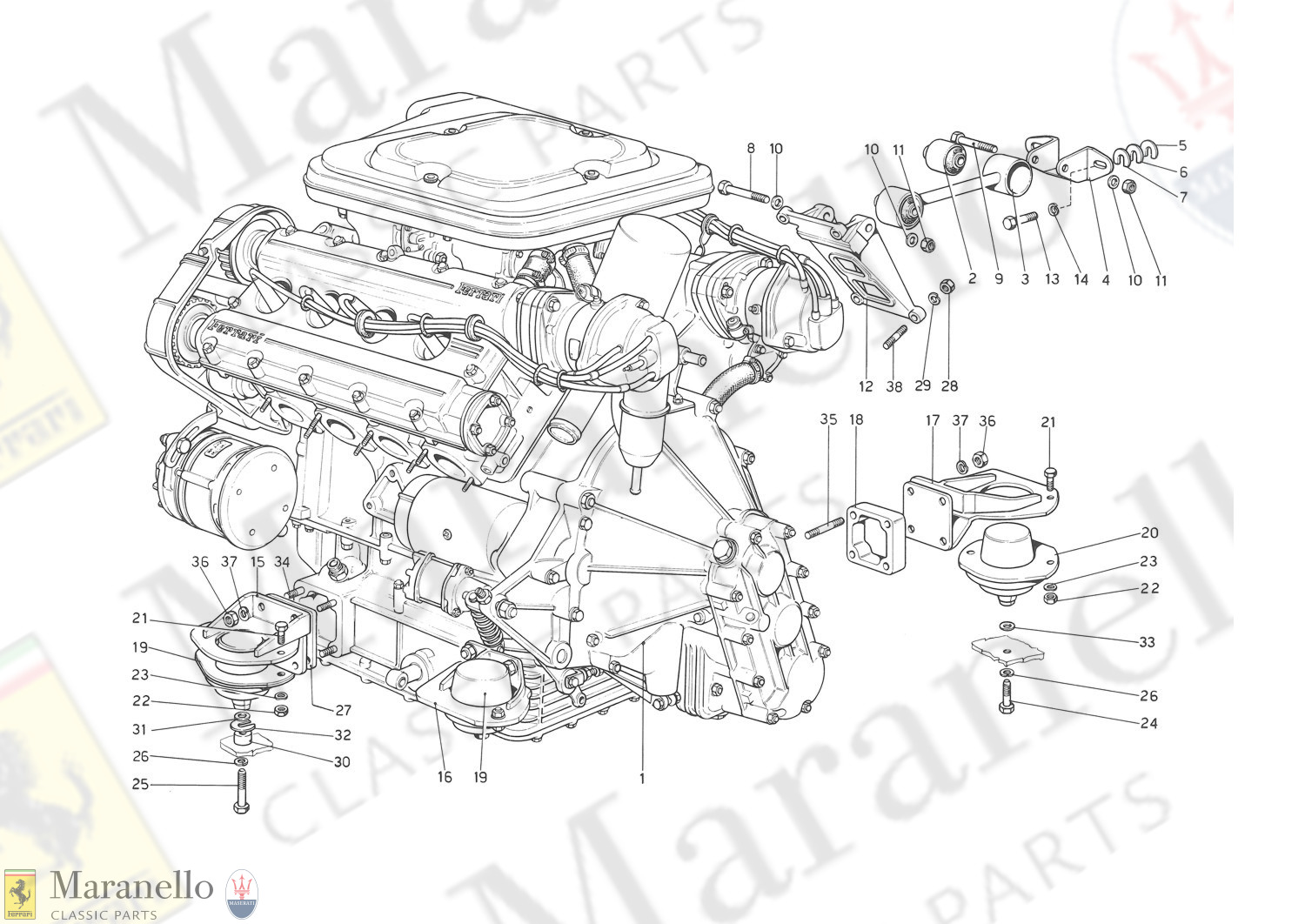 001 - Engine - Gearbox And Supports