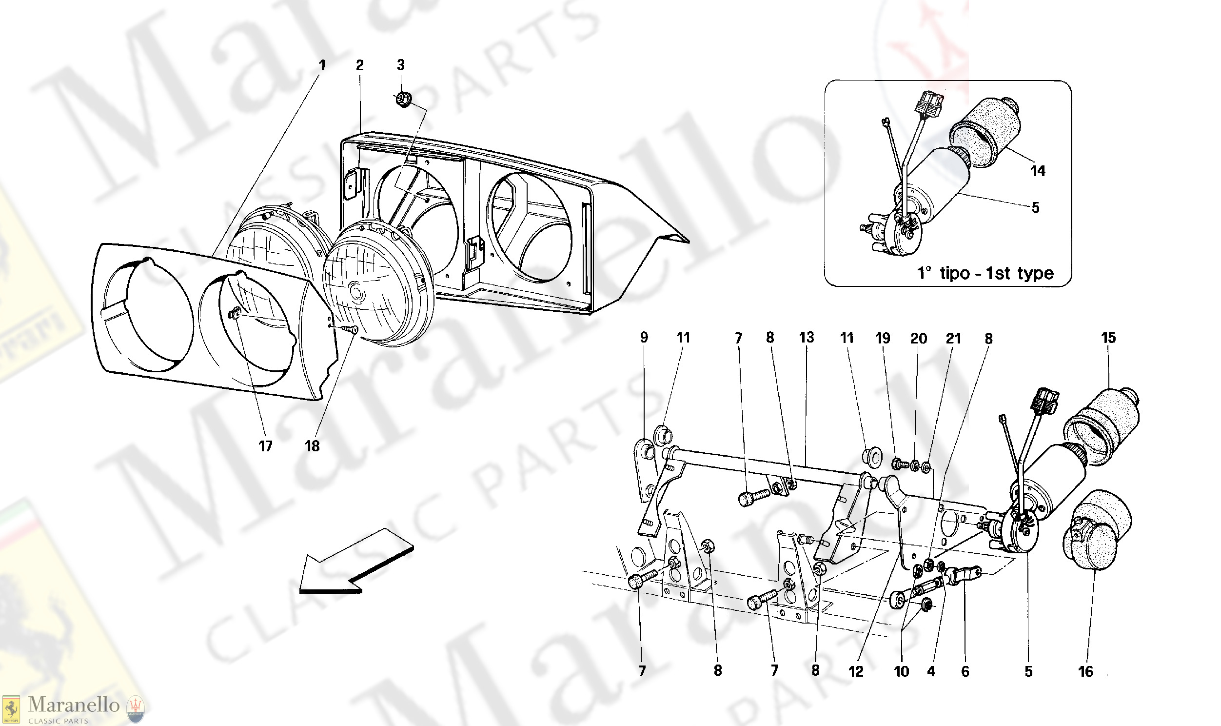 122 - Front Headlight Lifting Device