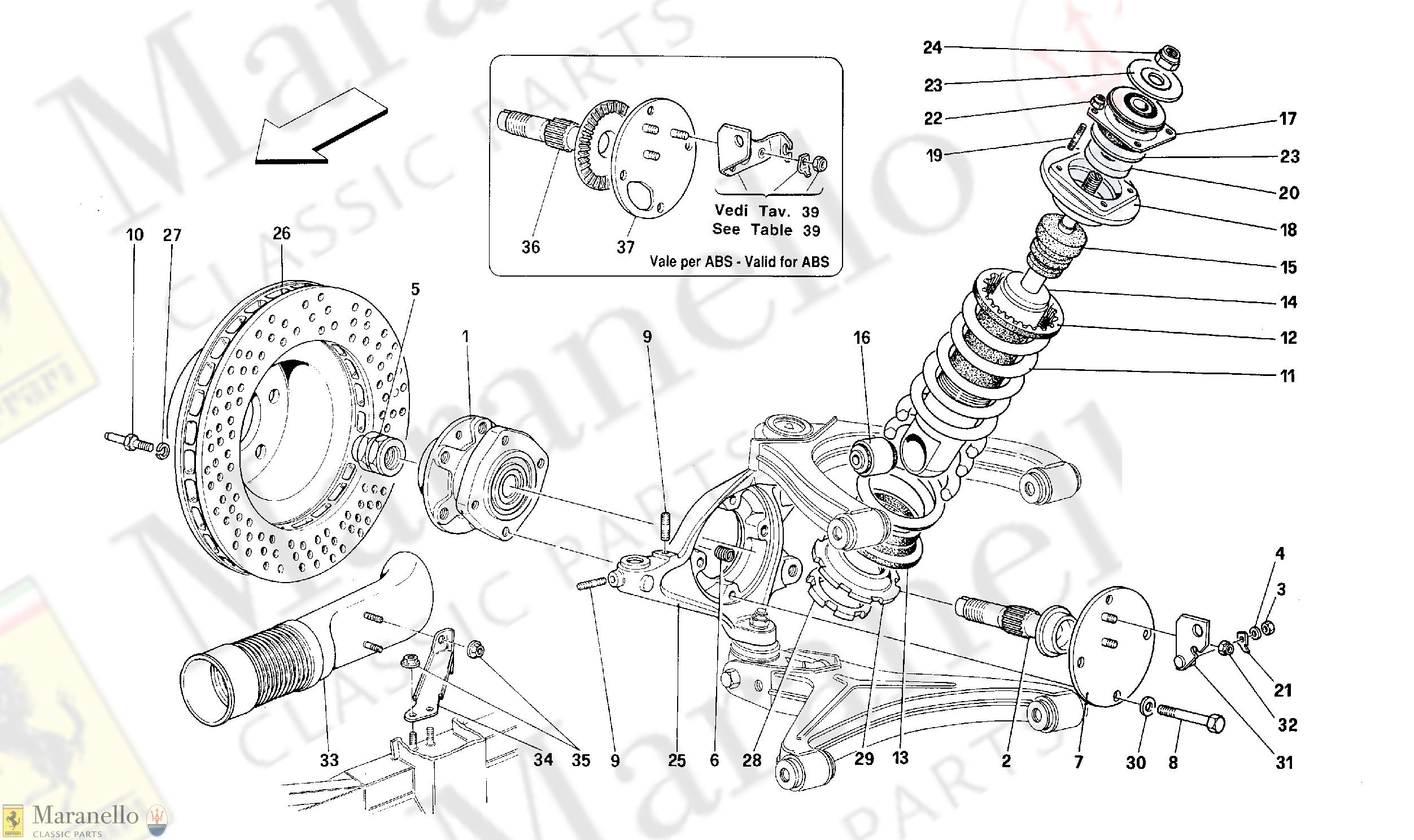 046 - Front Suspension - Shock Absorber And Brake Disc