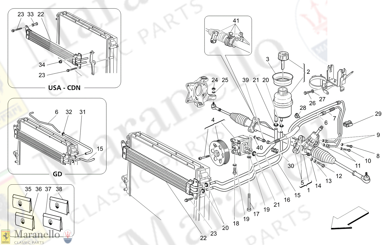 M5.10 - 14 - M510 - 14 Steering Rack And Hydraulic Steering Pump