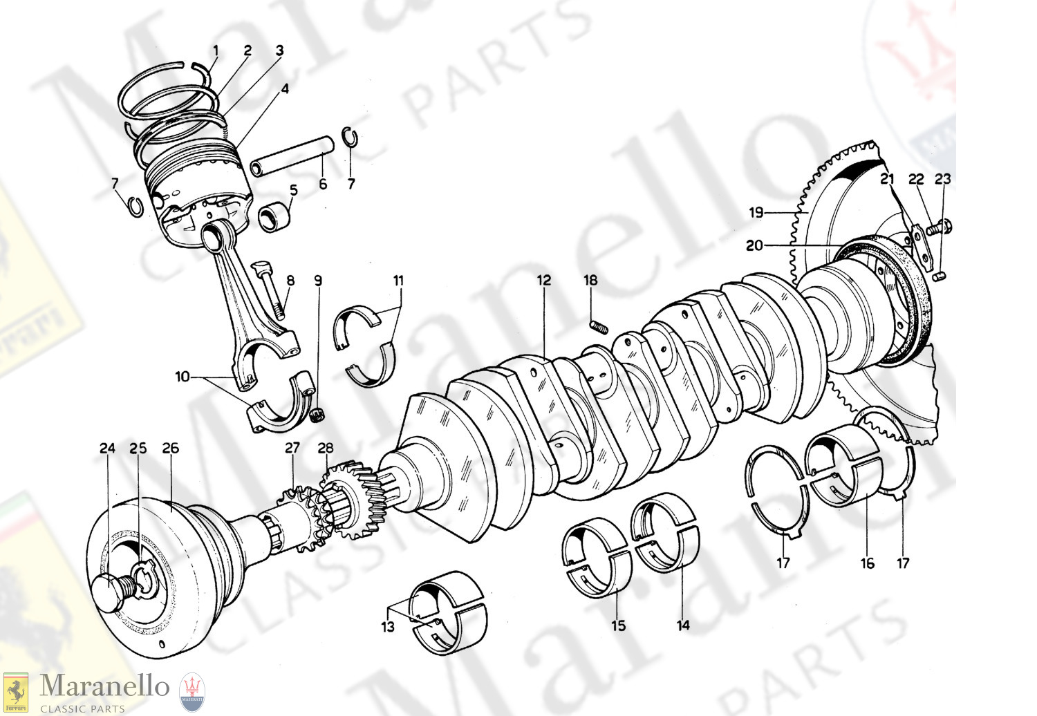 003 - Crankshaft, Connecting Rods And Pistons