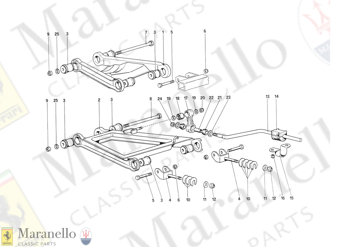 044 - Rear Suspension - Wishbones (From Car No  76626) parts