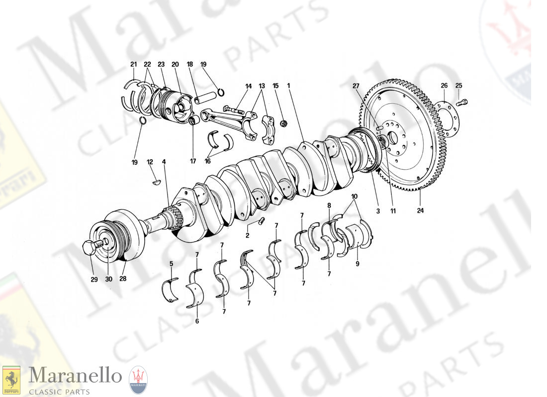 002 - Crankshaft, Connecting Rods And Pistons