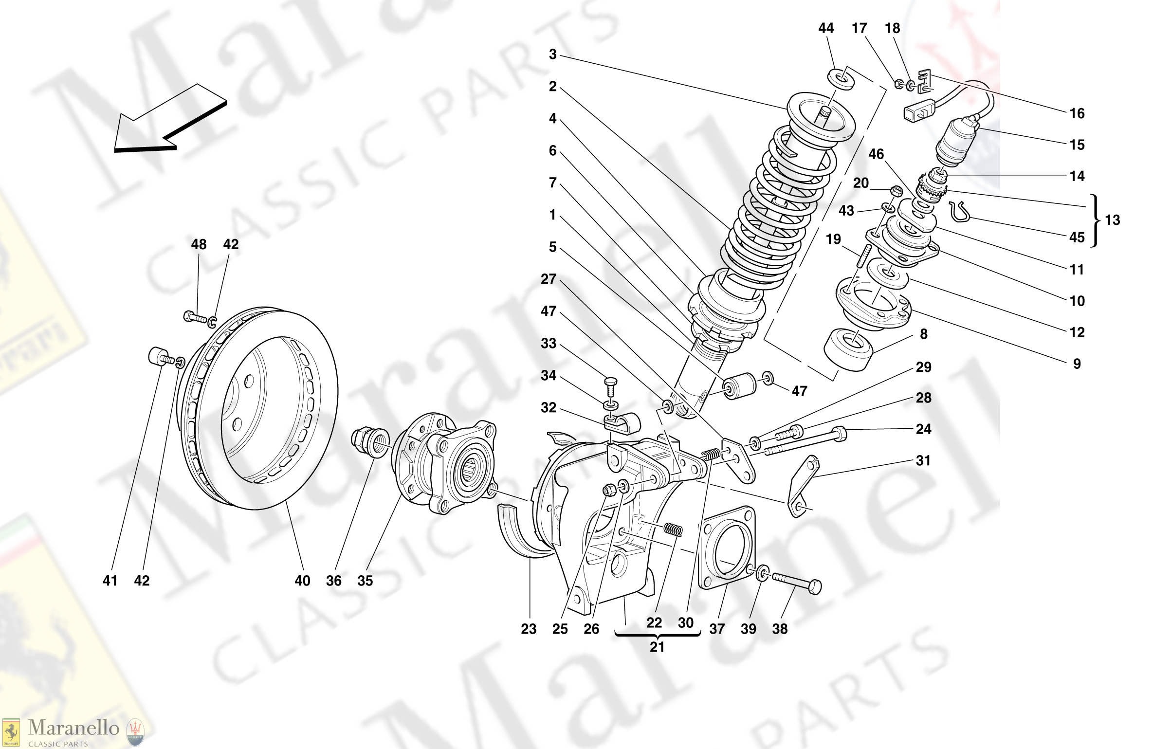 045 - Rear Suspension - Shock Absorber And Brake Disc
