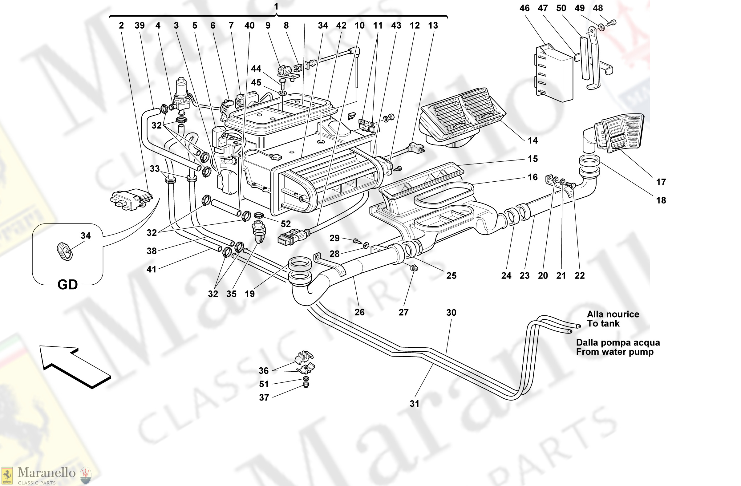 Ferrari 348 TS sensor evaporator temperature 62341000 F355