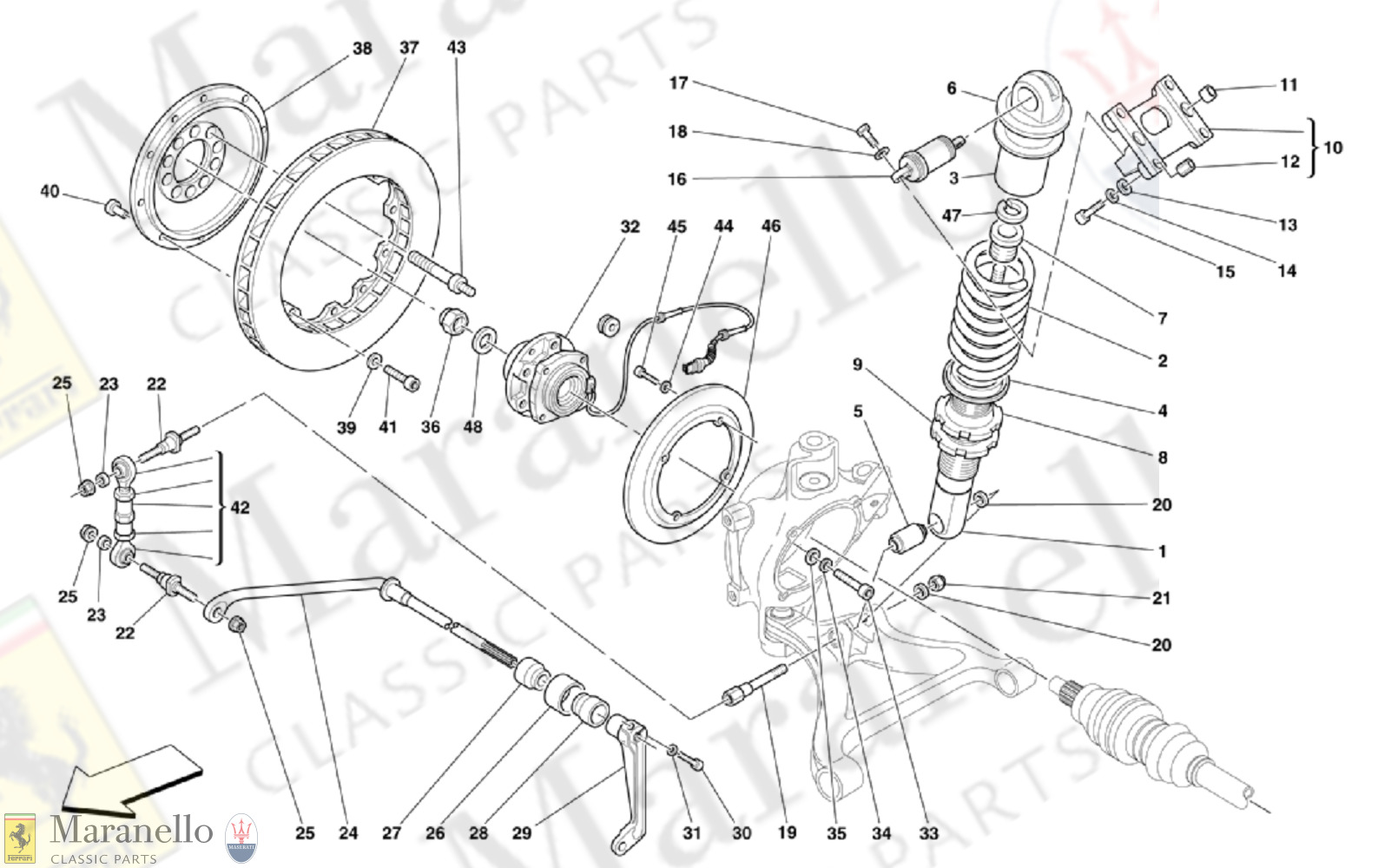 040 - Rear Suspension - Shock Absorber And Brake Disc