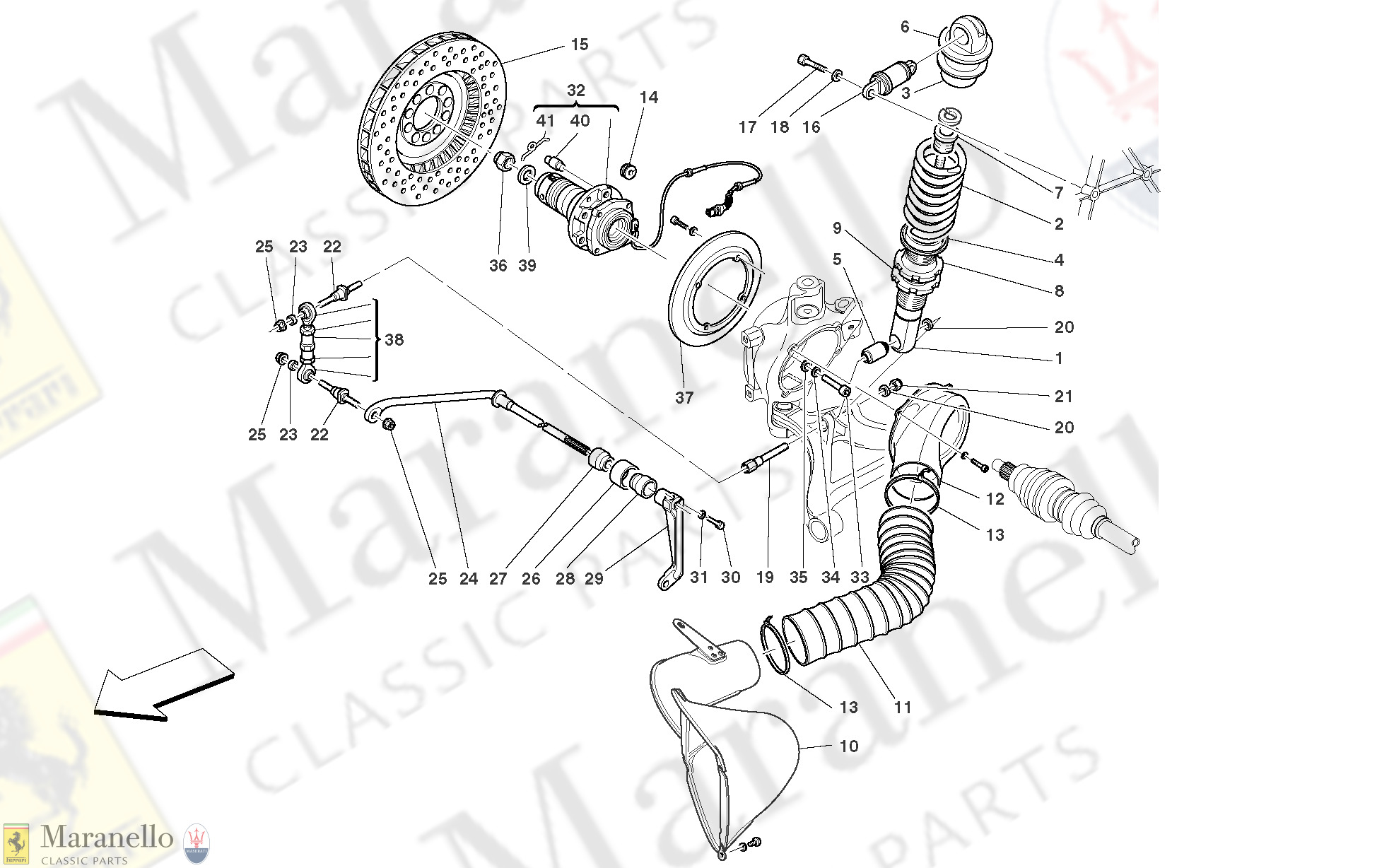 039 - Rear Suspension - Shock Absorber And Brake Disc