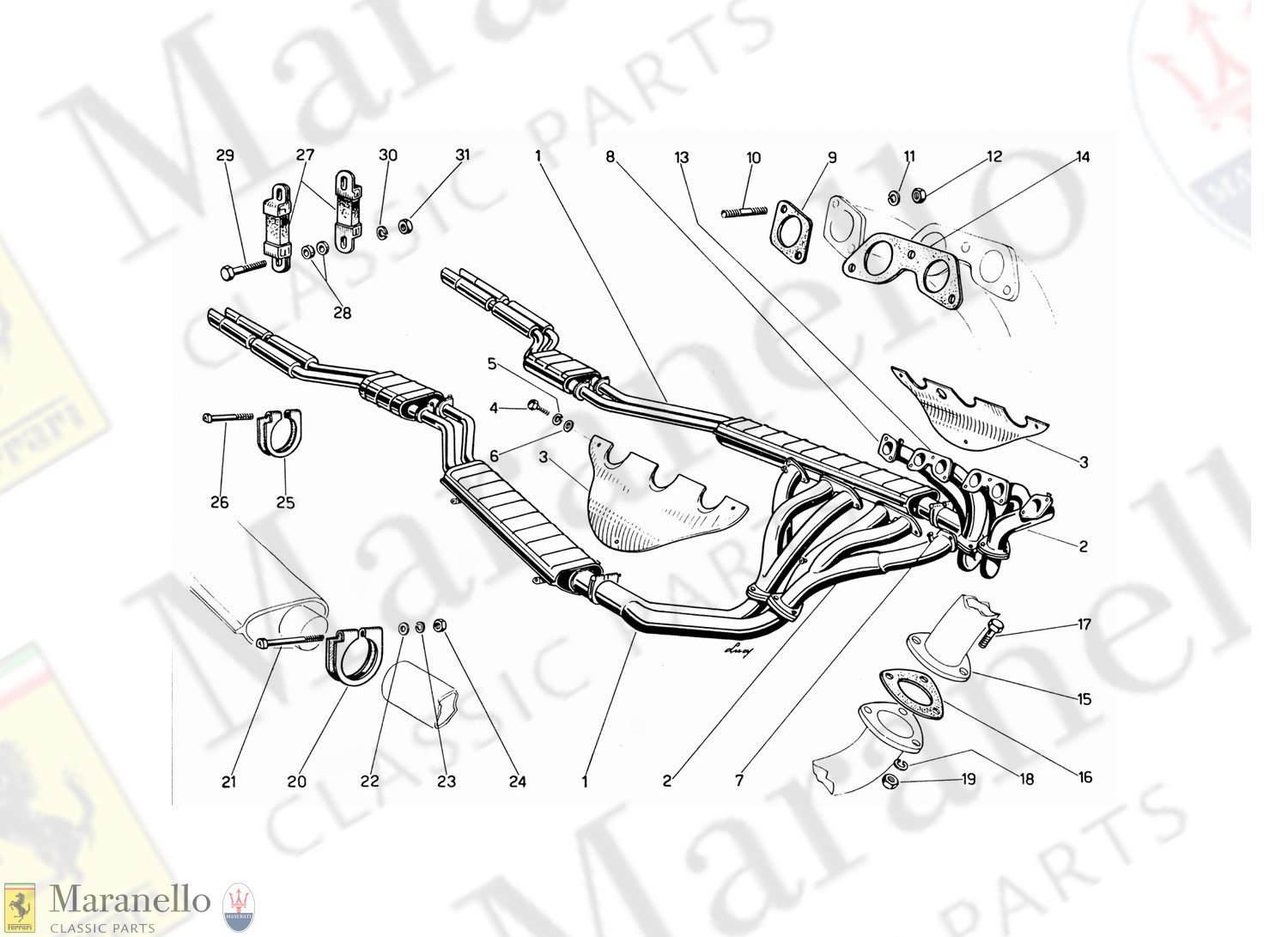 009 - Exhaust Manifolds, Silencers And Extensions