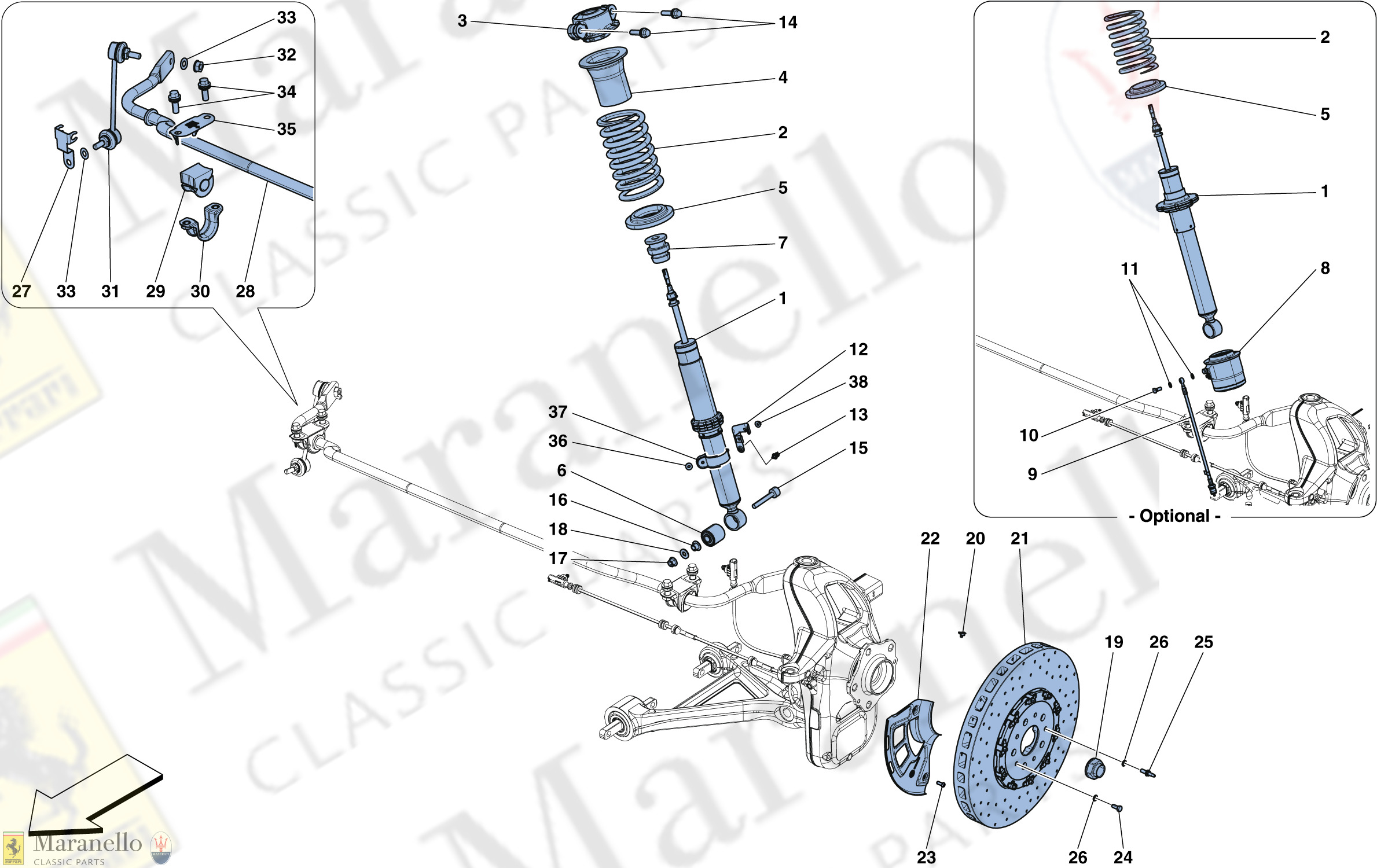 040 - Front Suspension - Shock Absorber And Brake Disc