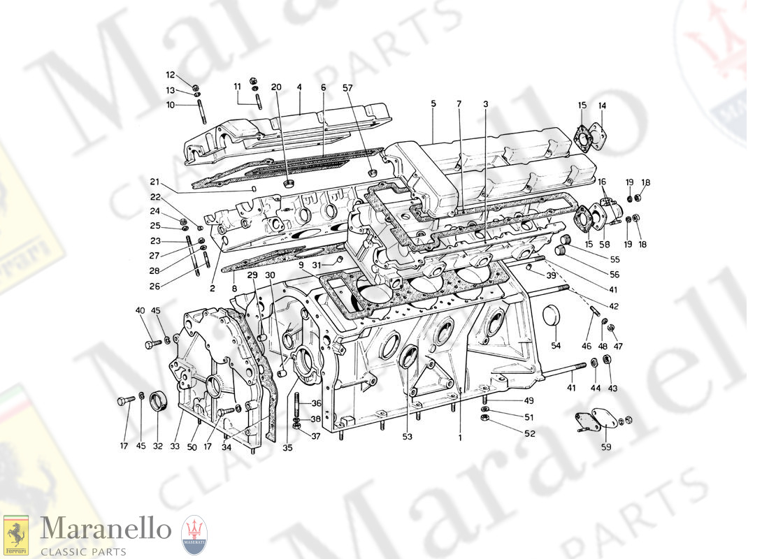 001 - Crankcase And Cylinder Heads