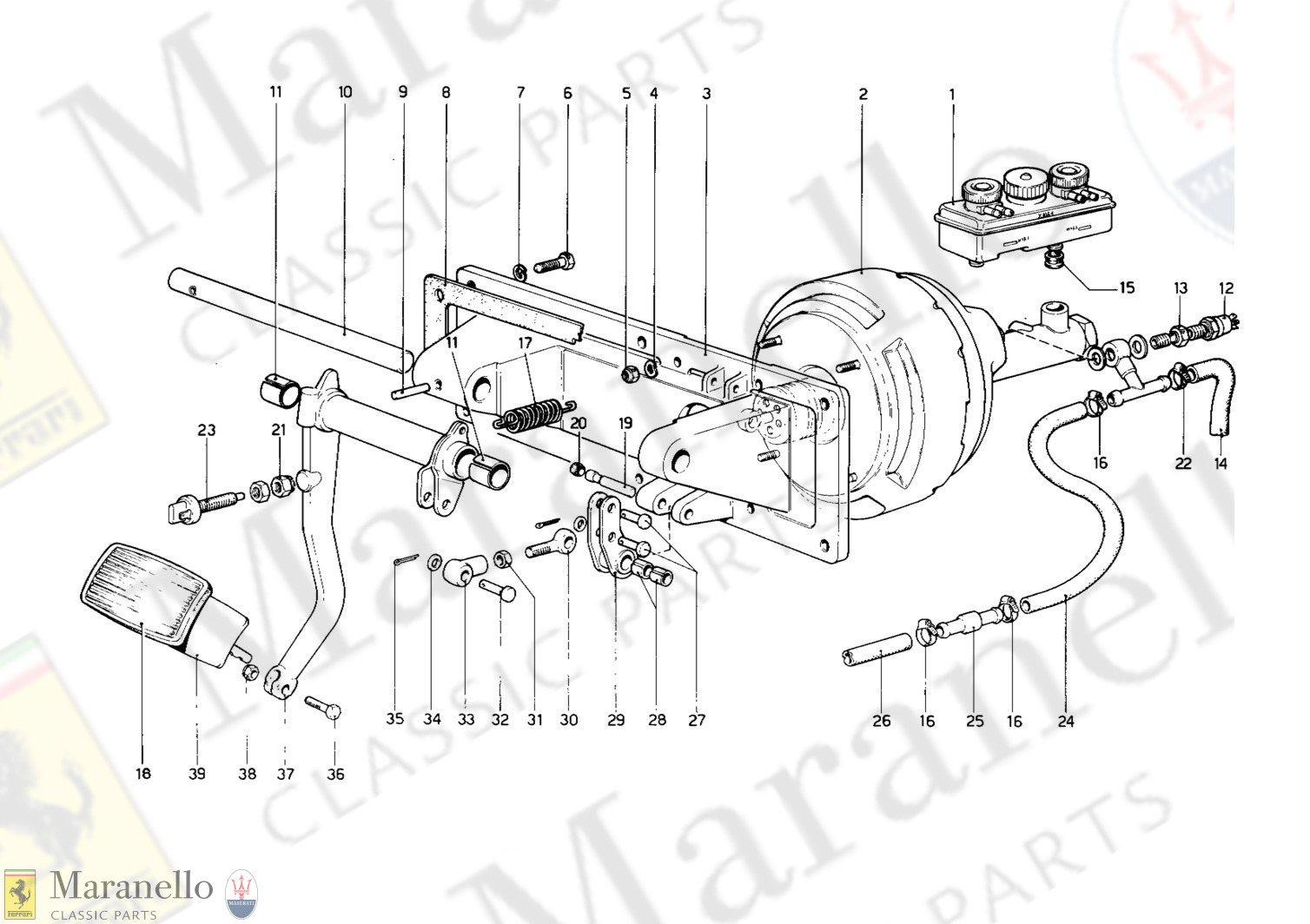 055 - Brakes Hydraulic Drive (400 Automatic - Variants For RHD Version)