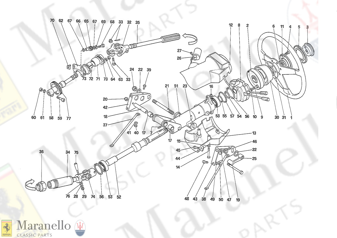 041A - Steering Column - Starting From Car N 75997 (Apr89)
