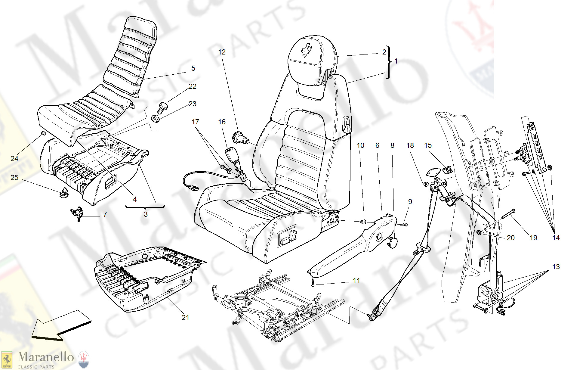 123 - Electrical Seat - Safety Belts