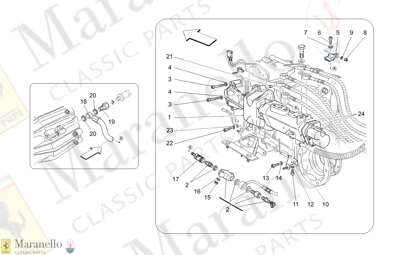 02.01 - 1 - 0201 - 1 Actuation Hydraulic Parts For F1 Gearbox