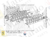 - P//N 61497300 NEW Front Hood Opening Cable Ferrari Testarossa