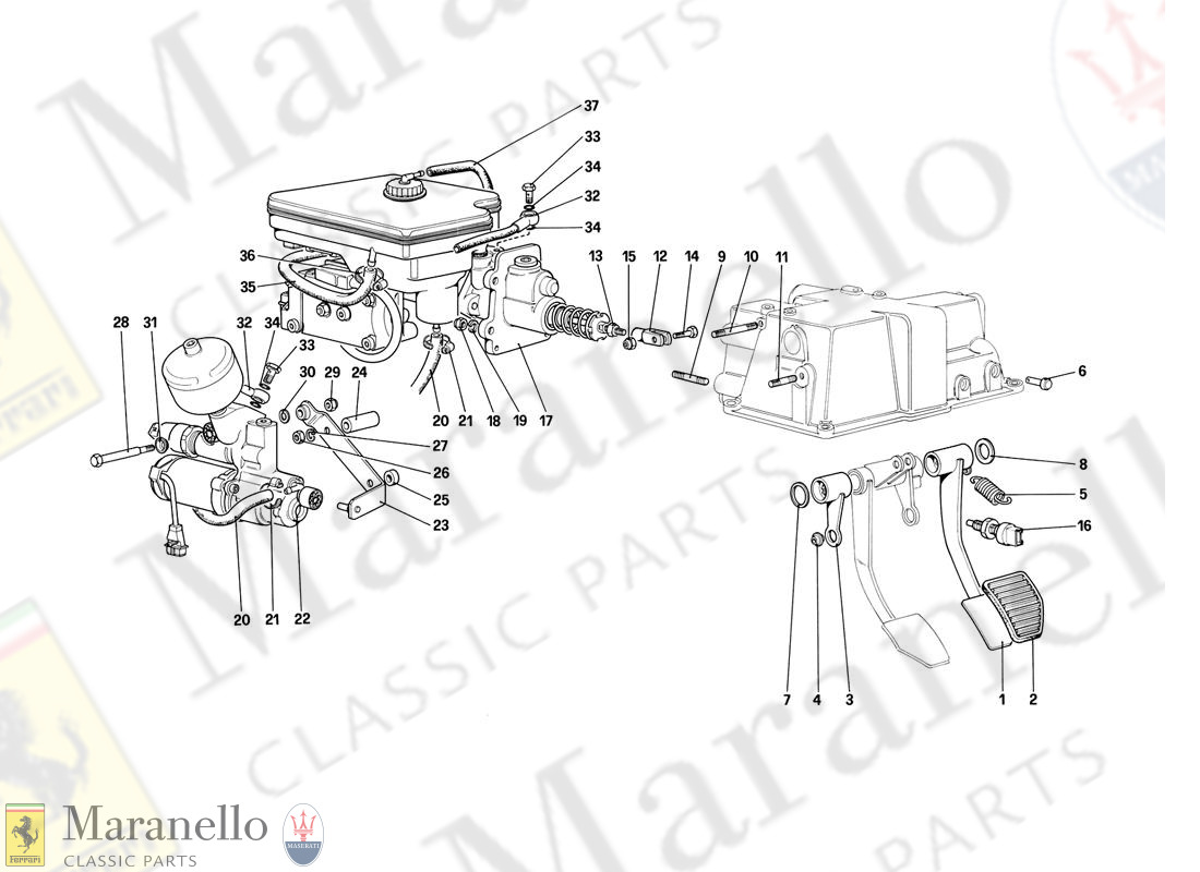 036 - Brake Hydraulic System (For Car With Antiskid System)