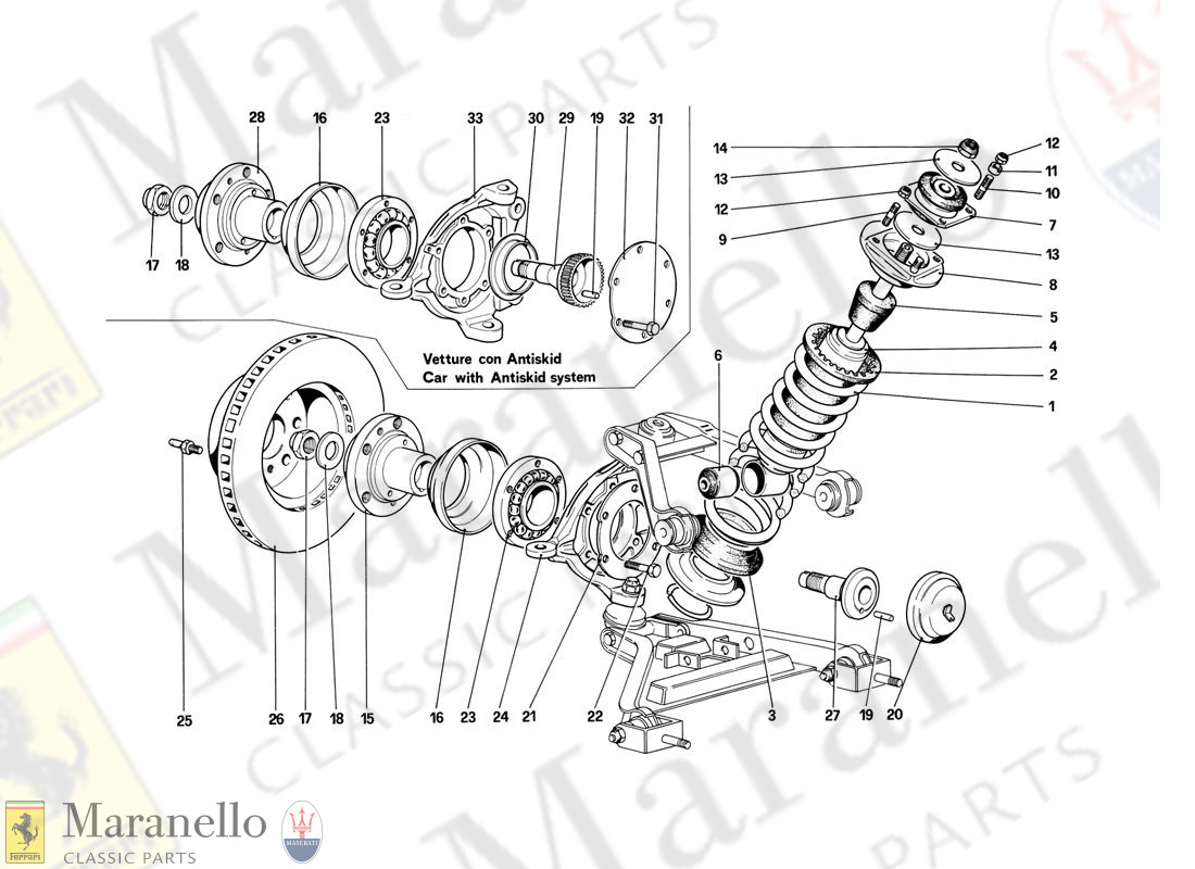 044 - Front Suspension - Shock Absorber And Brake Disc