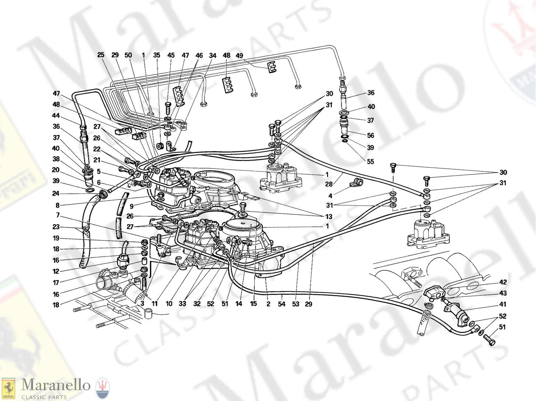 Ferrari Testarossa Hose Part # 123736