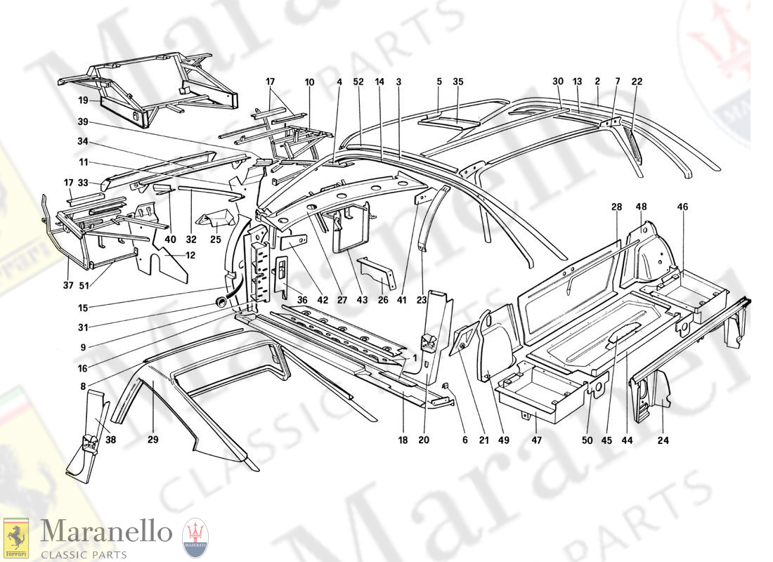 105 - Body Shell - Inner Elements (For U.S. And Sa Version)