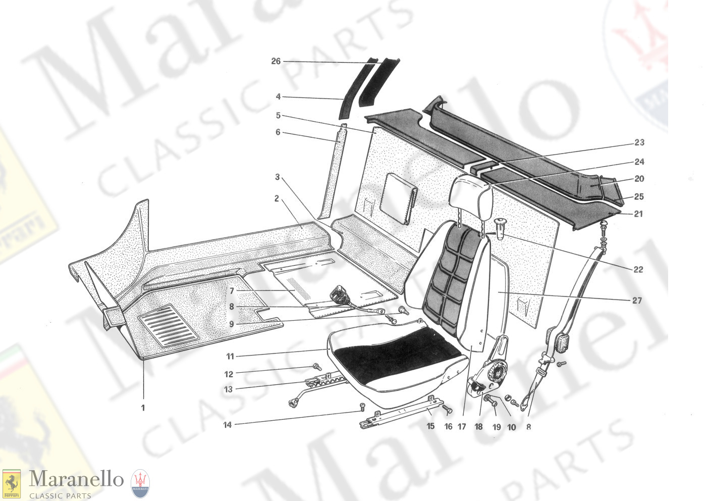 110 - Interior Trim, Accessories And Seats