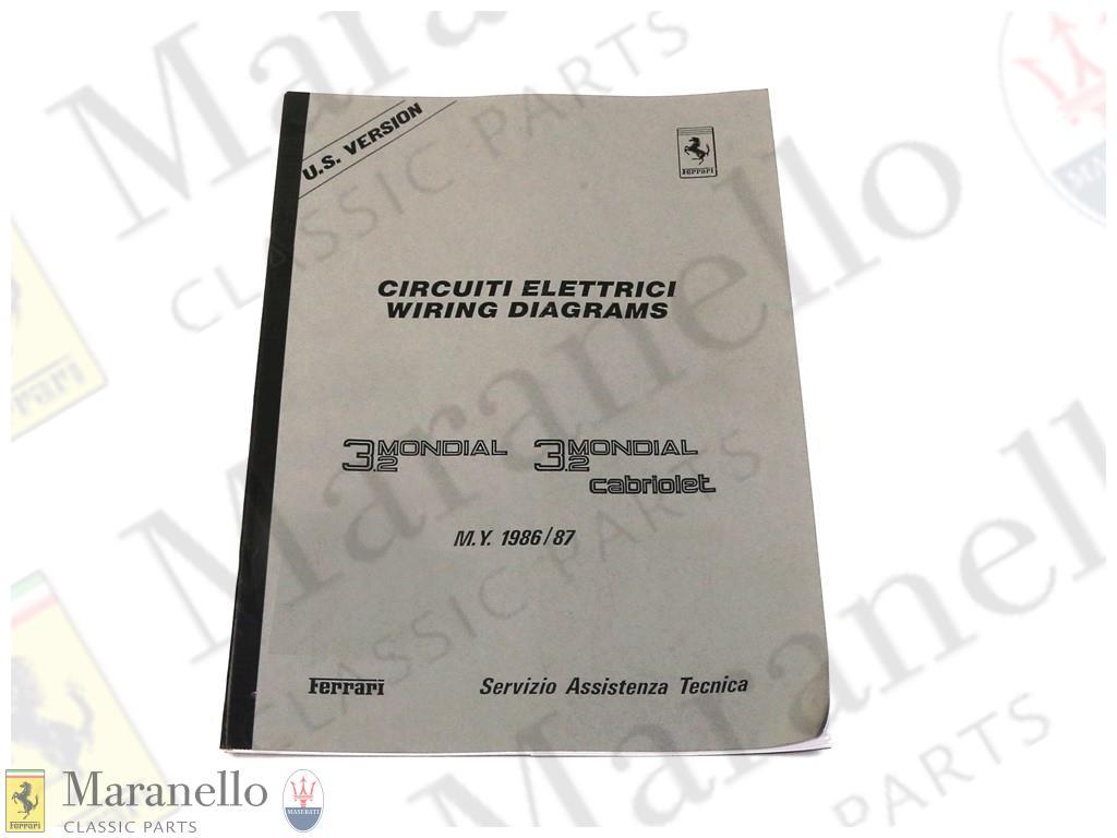 Ferrari part 95990851 - 3.2 Mondial USA Wiring Diagram ... on ferrari 308 gts, ferrari 308 qv wiring,