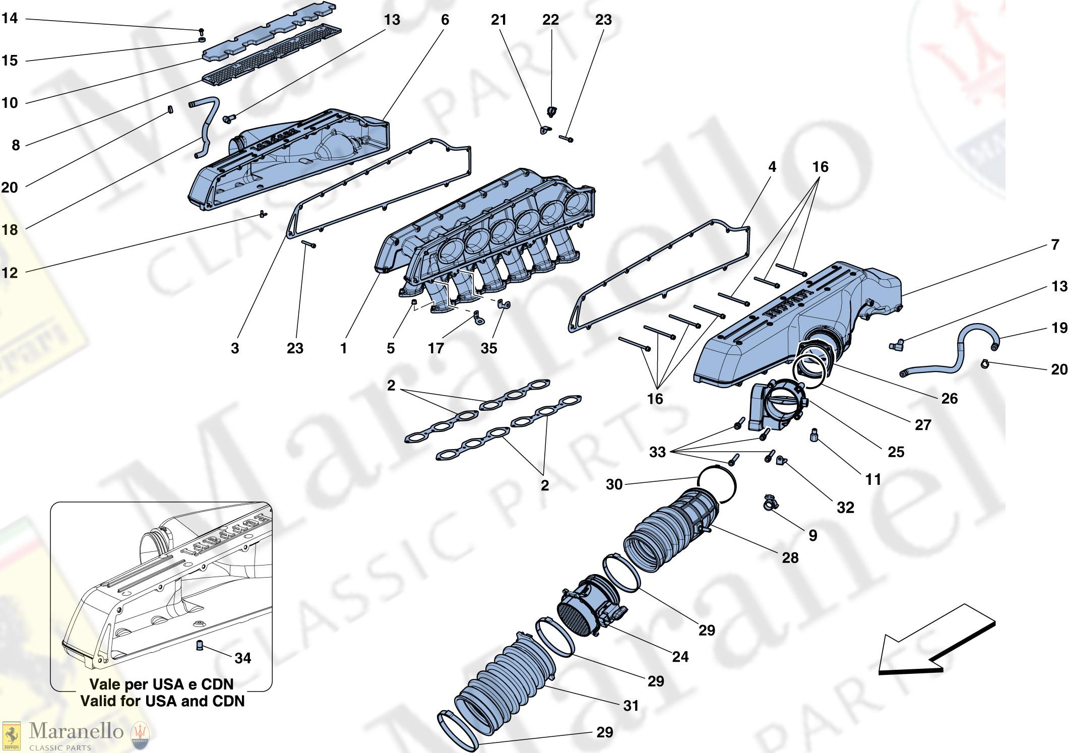 012 - intake manifold parts diagram for ferrari ff   maranello classic parts  maranello classic parts