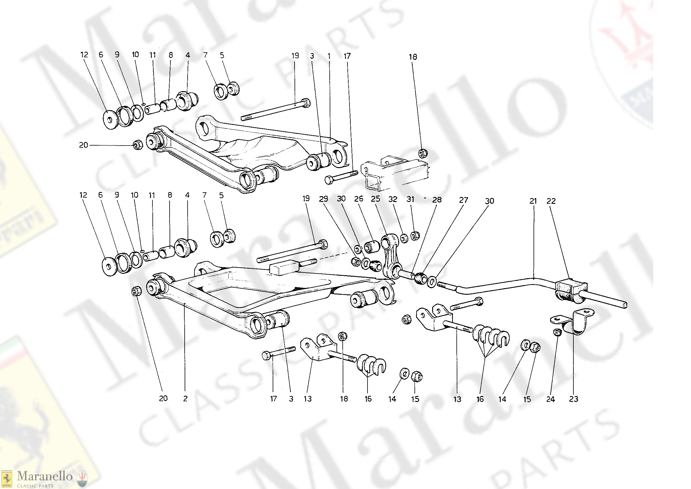 040 - Rear Suspension - Wishbones