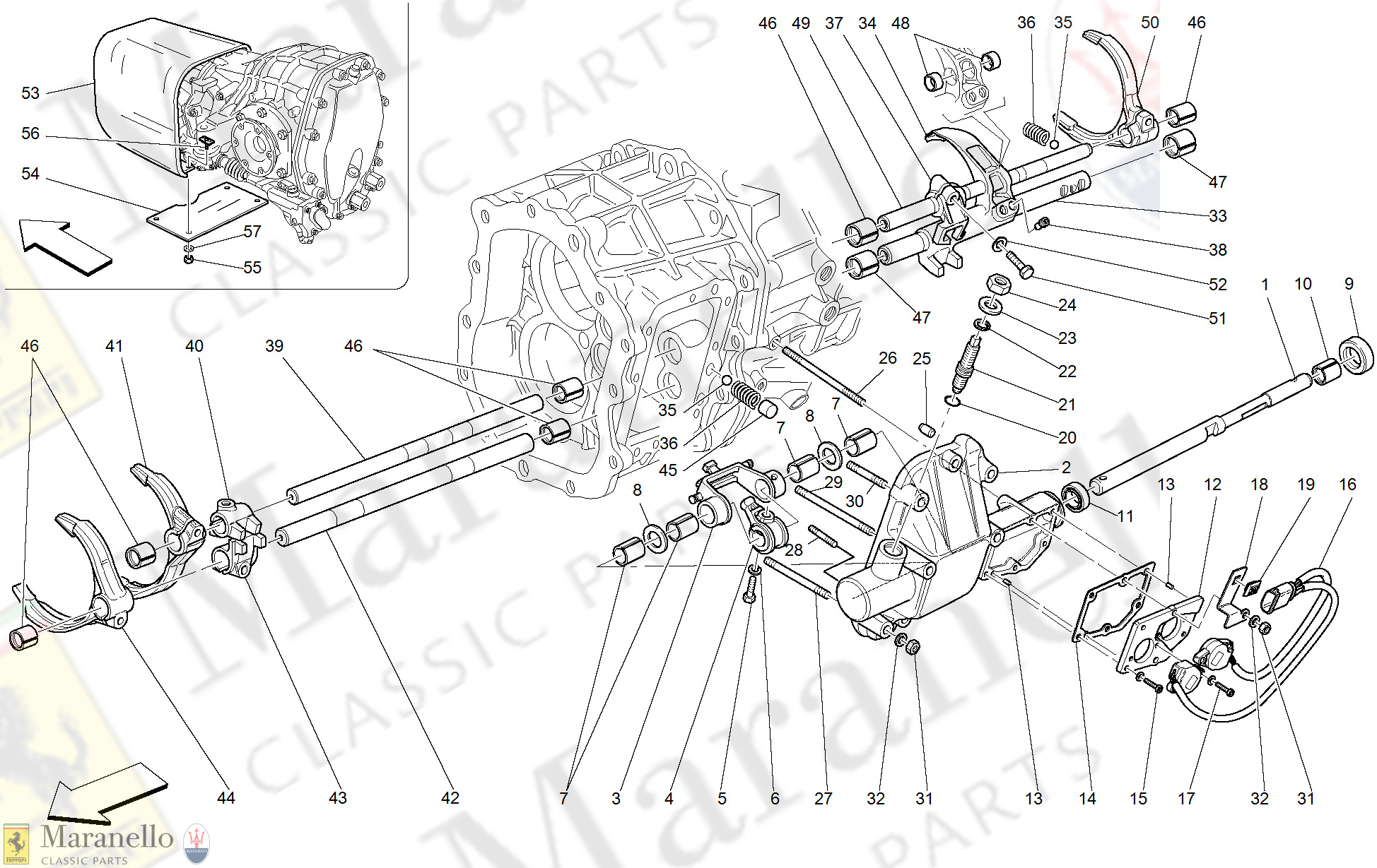 035 - Inside Gearbox Controls -Valid For F1-