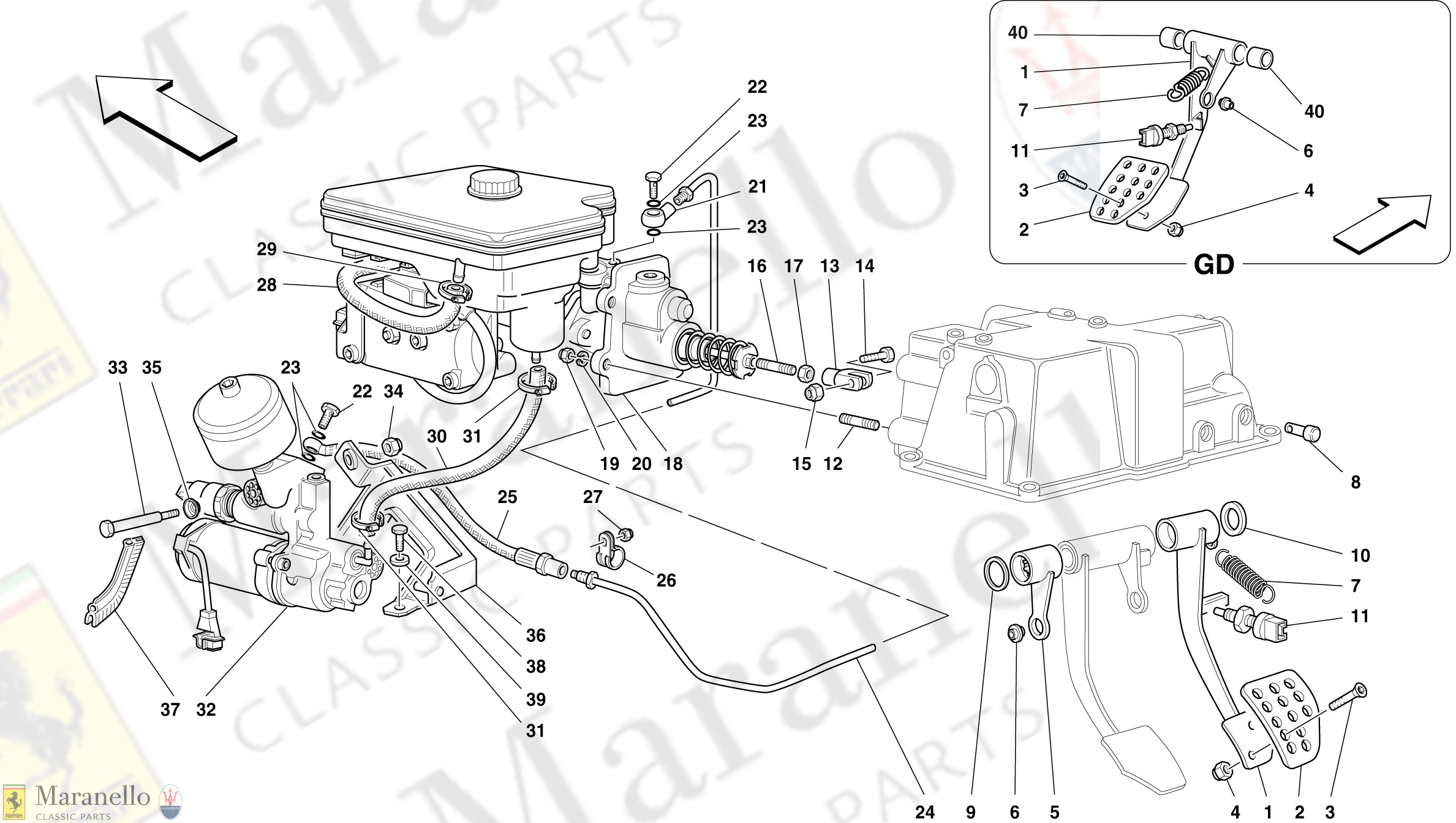 037 - Brake Hydraulic System -Not For Abs Bosch And 355 F1 Cars-