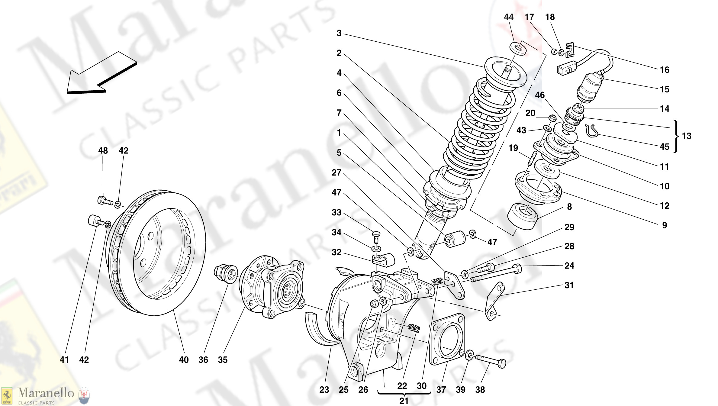 050 - Rear Suspension - Shock Absorber And Brake Disc