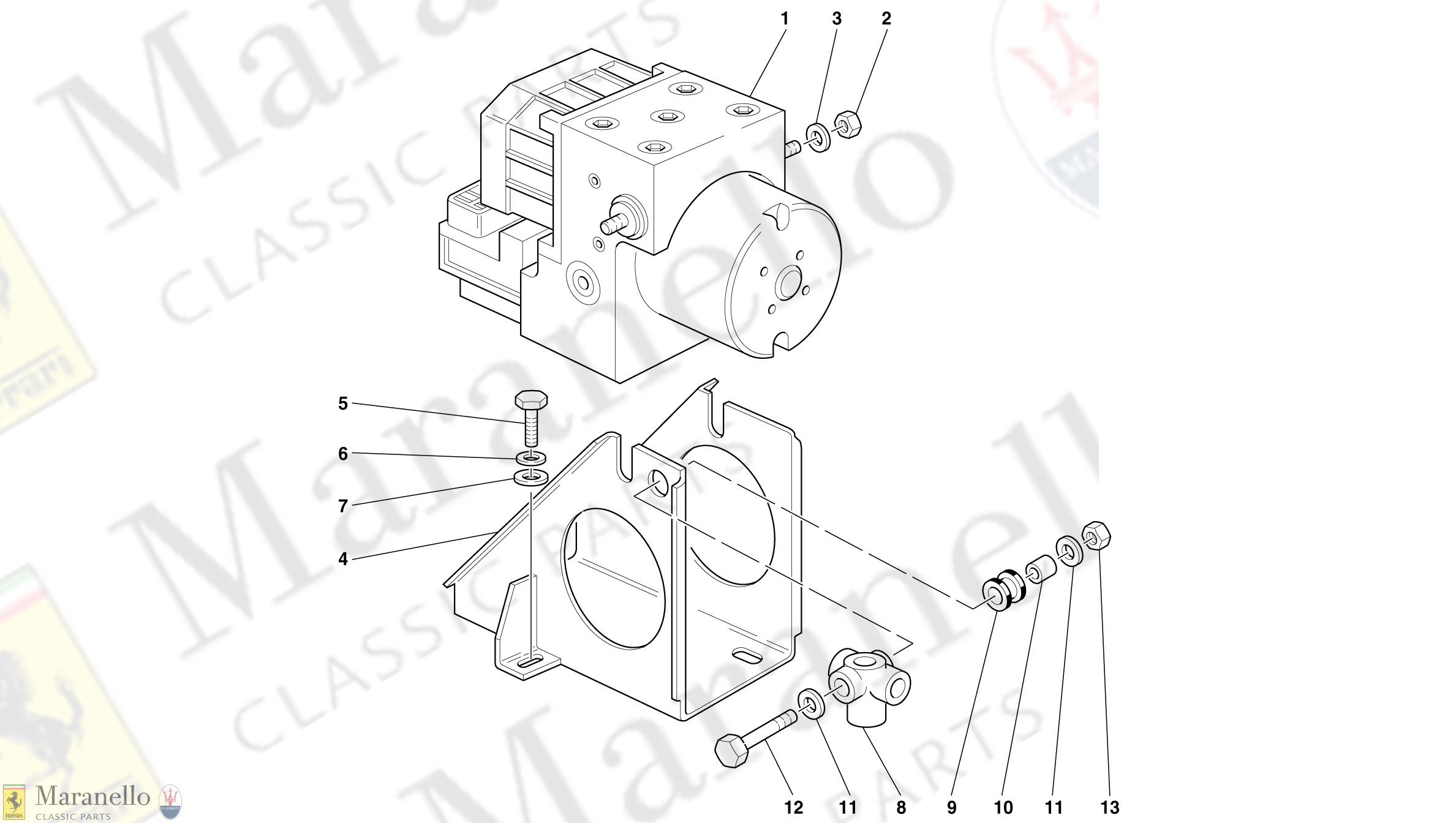 040 - Hydraulic System For Abs Bosch -Valid For Abs Bosch And 355 F1 Cars-