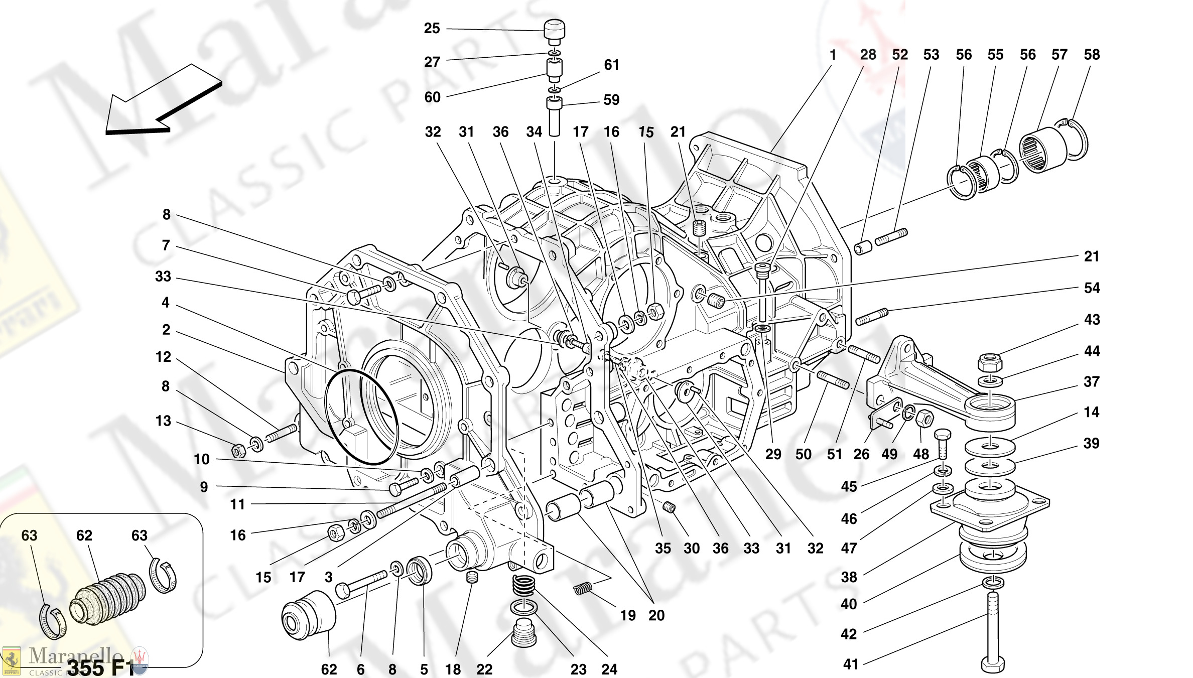 030 - Gearbox/Differential Housing And Intermediate Casing