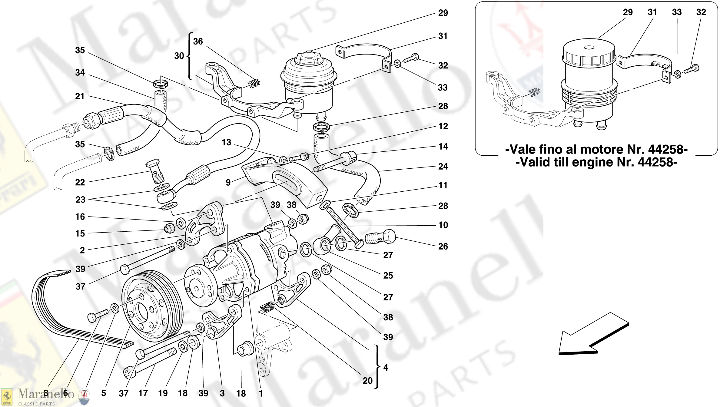 047 - Hydraulic Steering Pump And Tank