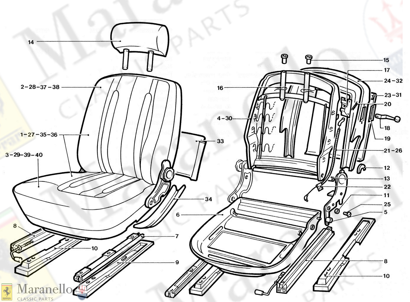 219 - Front Seat Components