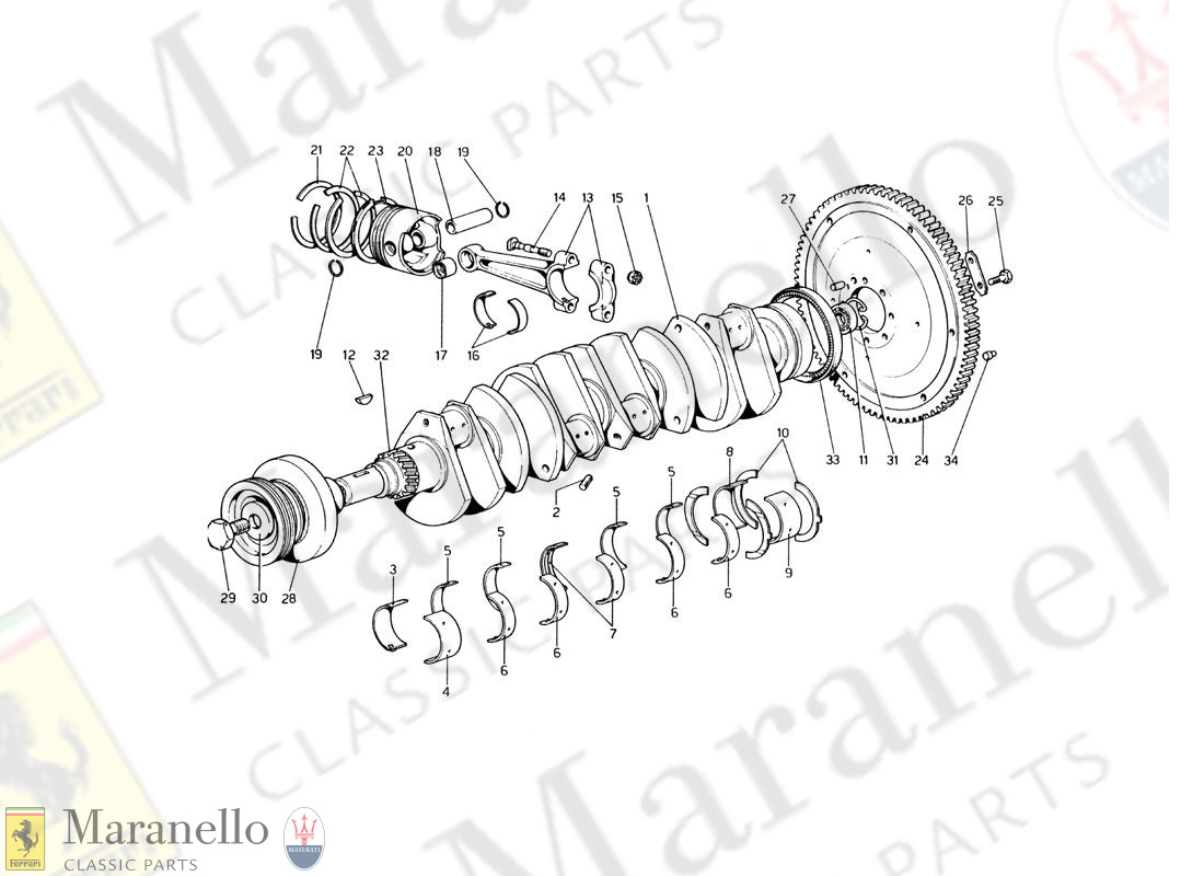 002 - Crankshaft - Connecting Rods And Pistons