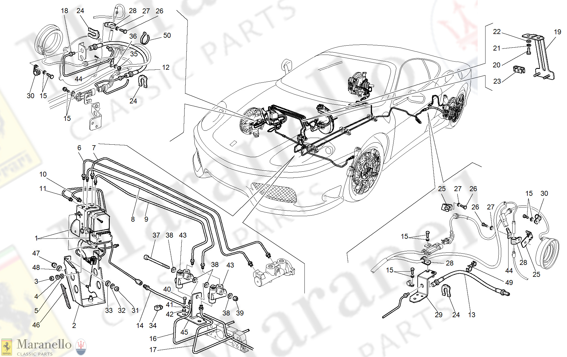 039 Brake System Not For Gd Parts Diagram For Ferrari 360 Challenge Stradale Maranello Classic Parts