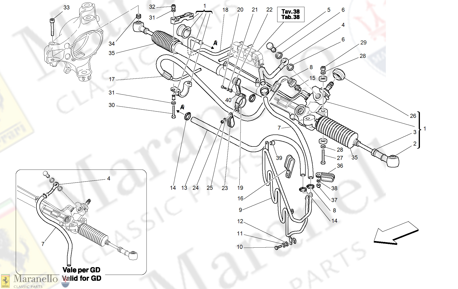 043 - Hydraulic Steering Box And Serpentine