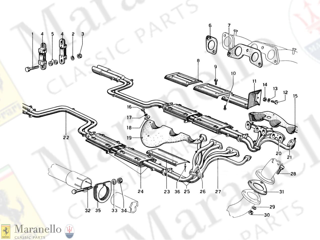 009 - Exhaust Pipes Assembly